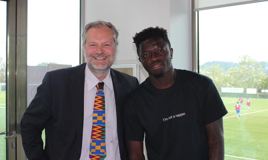 Il Console del Ghana in Italia con il calciatore Sulley Muntari
