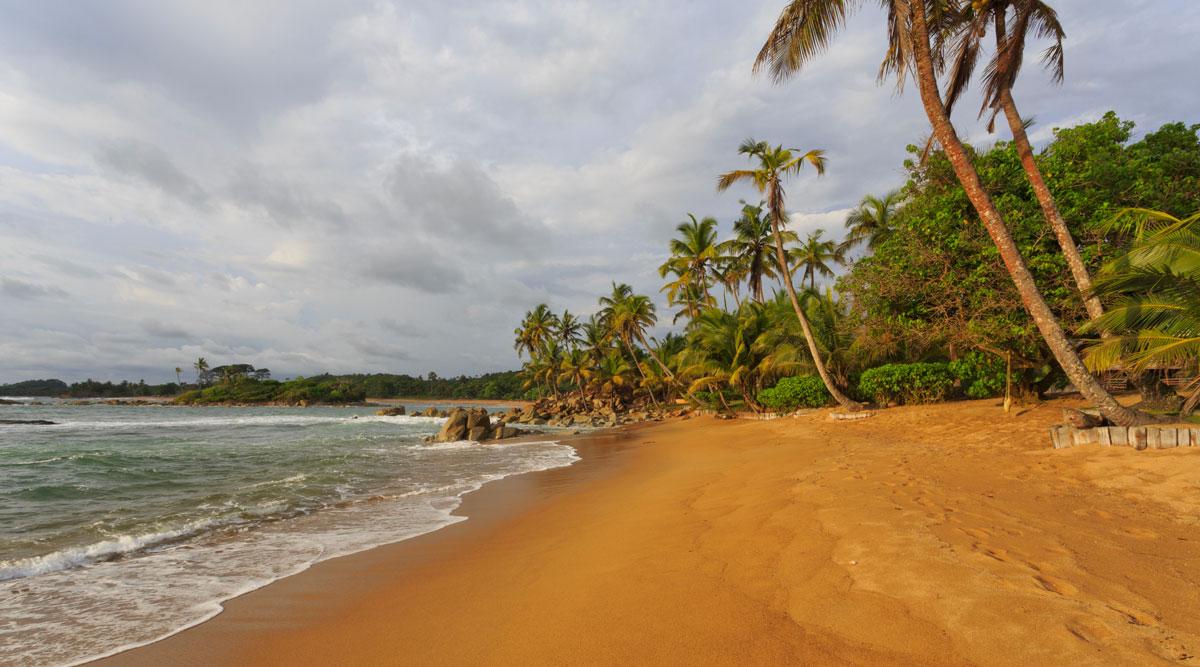Le spiagge in Ghana sono quasi tutte di sabbia bianca