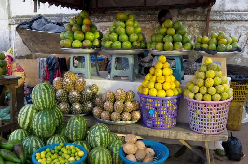 Frutta al mercato in Ghana