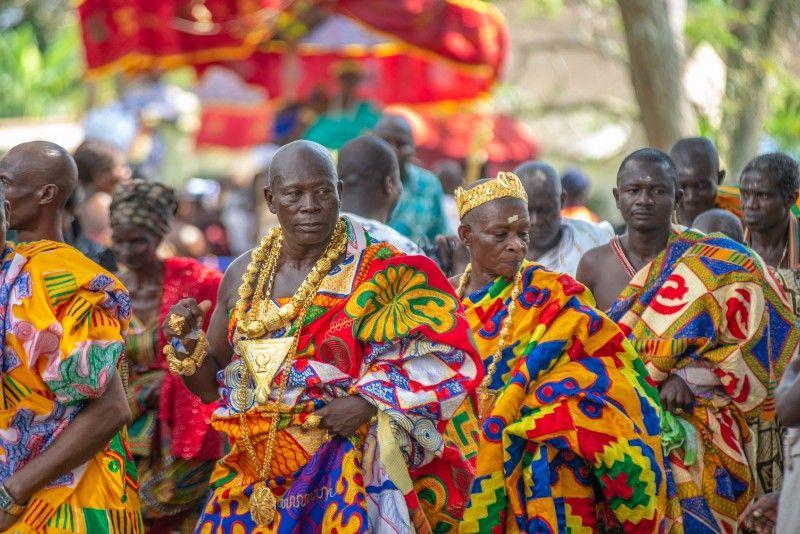 Ghana, abiti in tessuto tipico