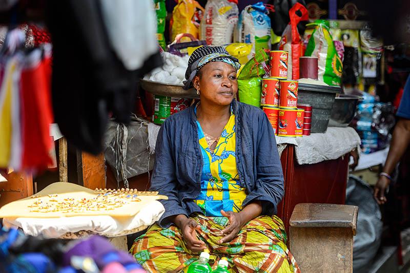 Mercato Kumasi Ghana
